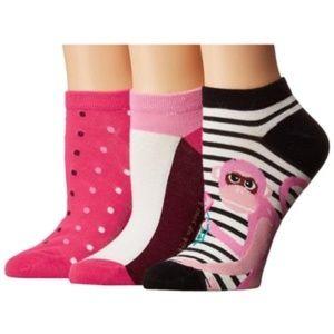 Kate Spade New York Stripe Monkey Sock 3-Pack